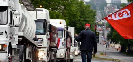 Taxe kilométrique: le zoning de Tournai bloqué