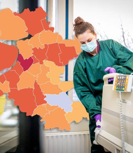 KAART   Aantal positieve coronatests in Oost-Nederland redelijk stabiel, Apeldoorn heeft dalende lijn te pakken