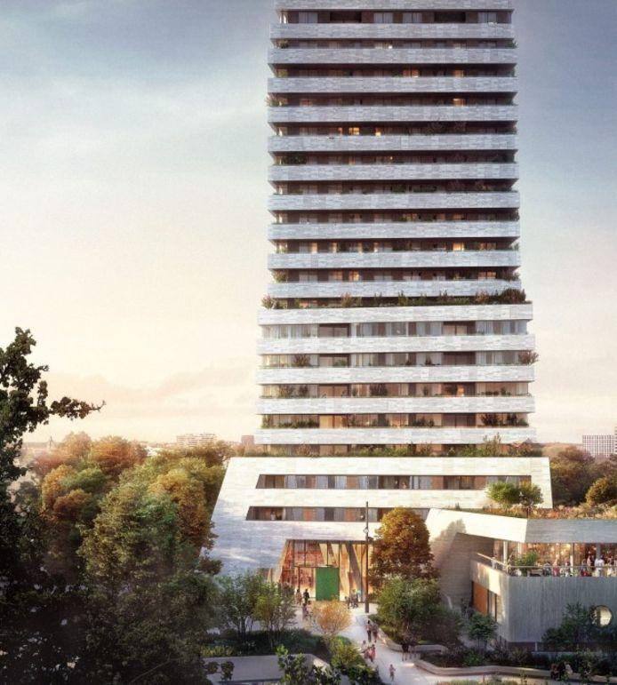 De BunkerToren aan de Kennedylaan in Eindhoven.