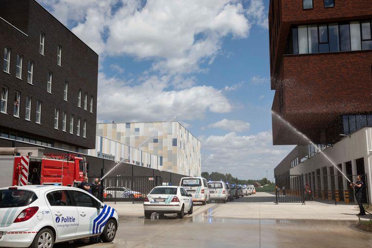 Foto ter illustratie: het politiegebouw van Hasselt. Beeld Karolien Coenen