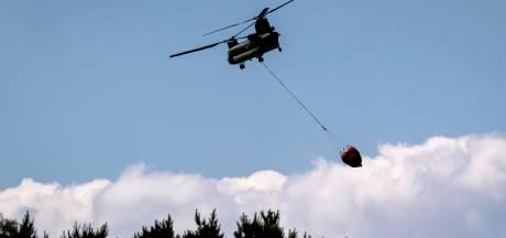 Grote oefening voor bestrijding natuurbranden in Hilvarenbeek