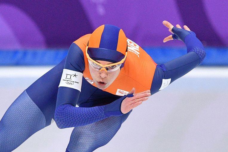 Marrit Leenstra op weg naar de zesde plek op de 1000 meter Beeld ANP