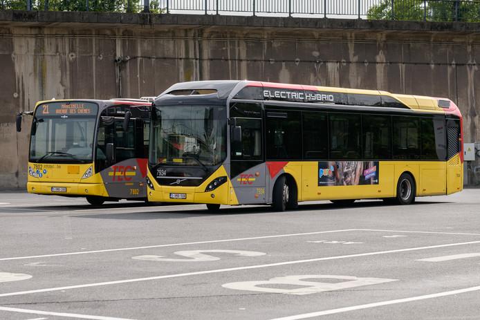 Bus hybride au TEC Charleroi