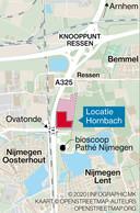 De locatie van de nieuwe Hornbach-vestiging.