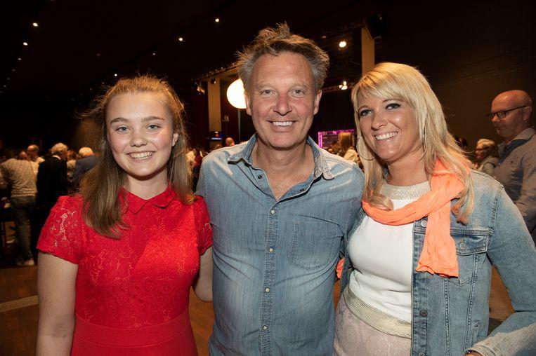 Premiere - Aladdin Musical   Chris Van Tongelen met zijn partner Annelies en zijn dochter Lila-Jane