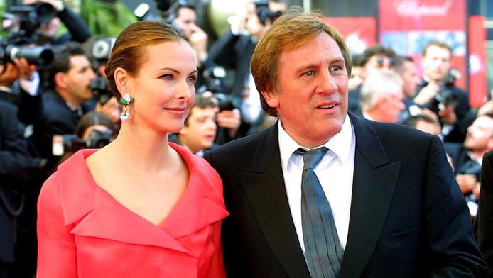 Carole Bouquet et Gérard Depardieu en 2001