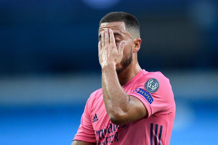 Eden Hazard kampt opnieuw met een blessure bij Real Madrid.