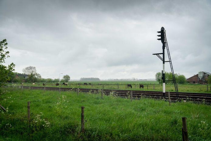 De Stationsweg in Valburg, waar ooit het station stond. De provincie wil weer stations toevoegen op de lijn tussen Tiel en Elst, maar heeft een eerste voorkeur voor Echteld. Valburg zou daarna pas in beeld komen.