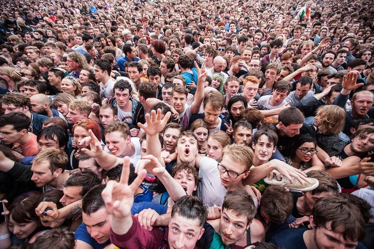 Libertines-fans in Hyde Park Beeld EPA