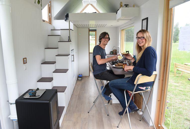 Nieuwegein: Gerbrand van der Weg en Natasja Oosterloo. Beeld Marcel van den Bergh