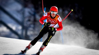 Sam Maes 38e in eerste run reuzenslalom, Hirscher heerst
