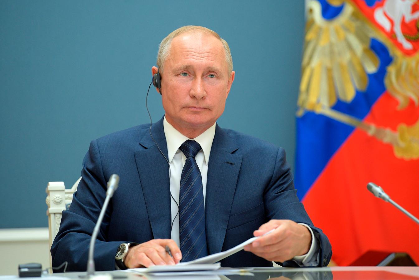De Russische president Poetin.