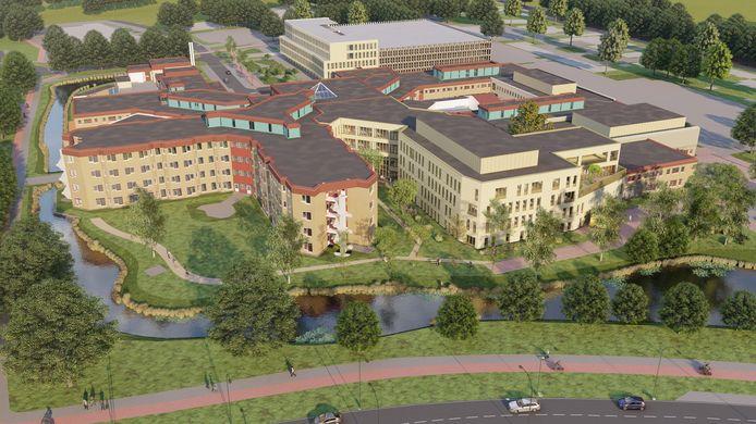 Impressie van het nieuwe en uitgebreide ziekenhuis St Jansdal in Harderwijk.