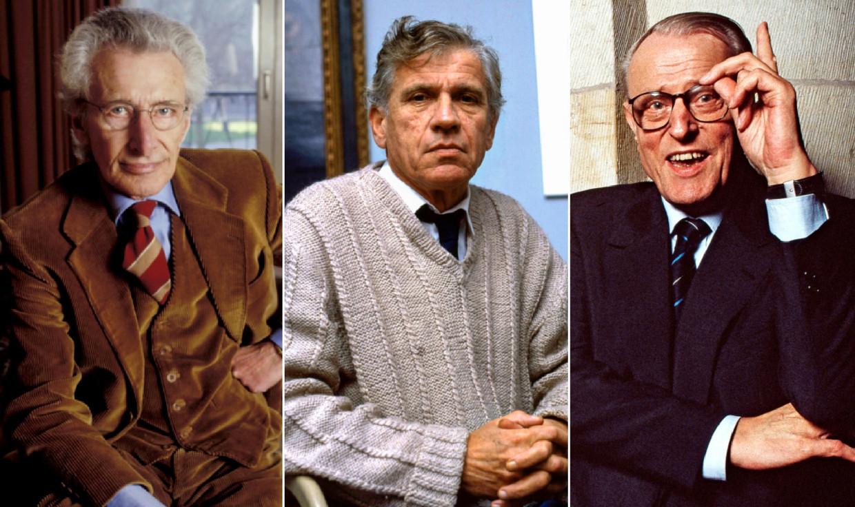 De Grote Drie: Harry Mulisch, Gerard Reve en W.F. Hermans. 'Vandaag zou zo'n hegemonie als de hunne niet meer denkbaar zijn.' Beeld rv