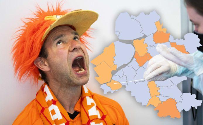 De coronakaart van Oost-Nederland op dinsdag 15 juni