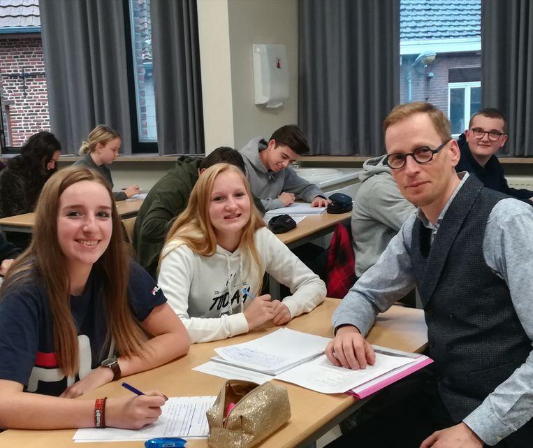 De leerlingen staken heel wat op van auteur Bart Debbaut.
