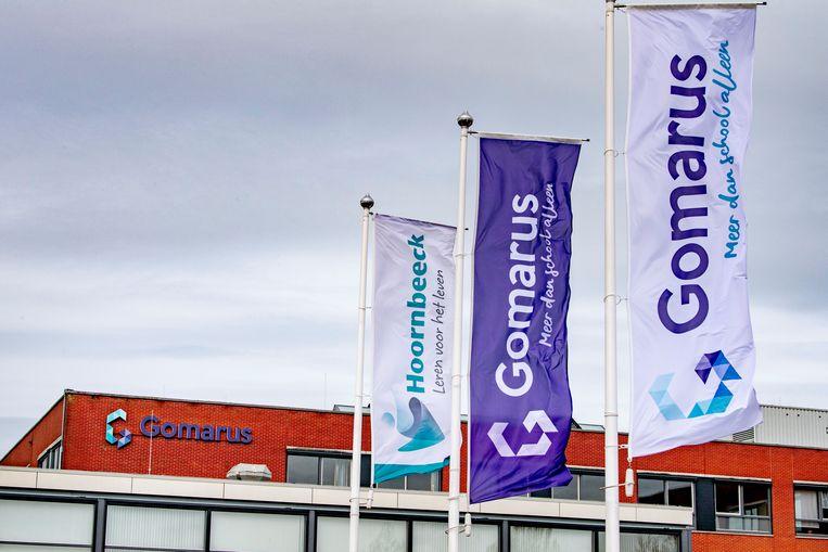De Gomarus Scholengemeenschap in Gorinchem. De school eist een verbod op het kritische rapport van de onderwijsinspectie. Beeld ROBIN UTRECHT