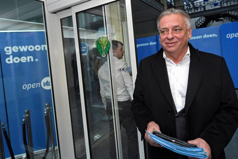 Patrick Dewael maandag tijdens het Open Vld-partijbureau.