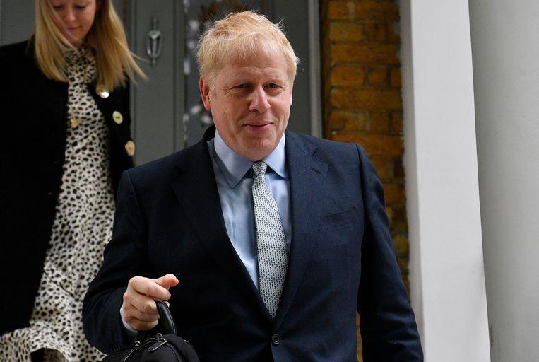 Boris Johnson heeft veruit de meeste stemmen gekregen in de eerste stemmingsronde bij de strijd om Theresa Mays opvolging. Beeld EPA