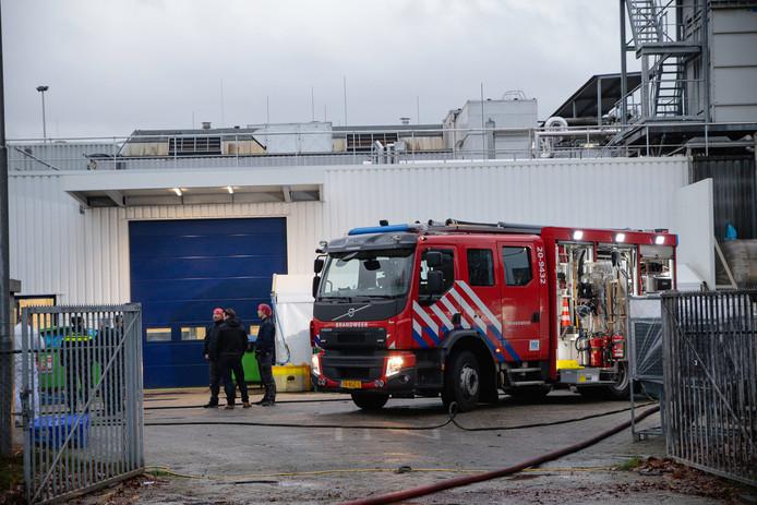 Brand bij Van Geloven in Tilburg.