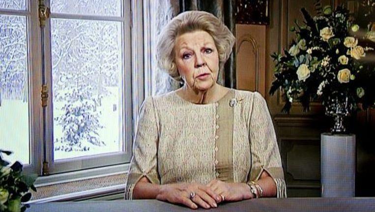 Koningin Beatrix tijdens haar kersttoespraak. ANP Beeld