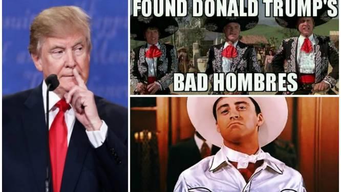 Twitter lacht zich een breuk met Trumps 'Bad Hombres'