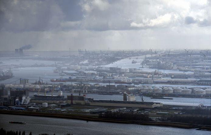 Vue aérienne son Anvers et son port (archives, 2018)