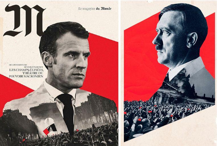 Vergeleek Franse krant Macron nu met Hitler? © Lincoln Agnew Beeld © Lincoln Agnew