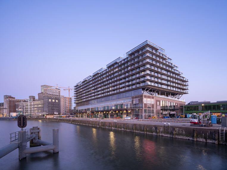 Het Fenix-gebouw in Rotterdam-Zuid. Bouwer Heijmans kreeg er een serie bouwprijzen voor.  Beeld Fenix