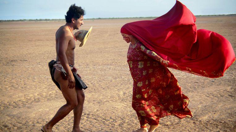 José Acosta en Natalia Reyes in Pájaros de verano van Cristina Gallego en Ciro Guerra Beeld x