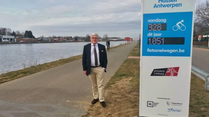 Provincie plaatst eerste drie telzuilen aan Limburgse fietssnelwegen