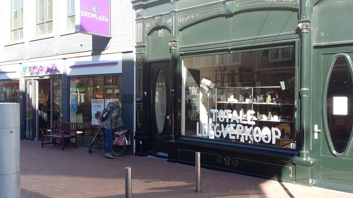 De winkel van Mezzo damesschoenen aan de Ziekerstraat in Nijmegen.