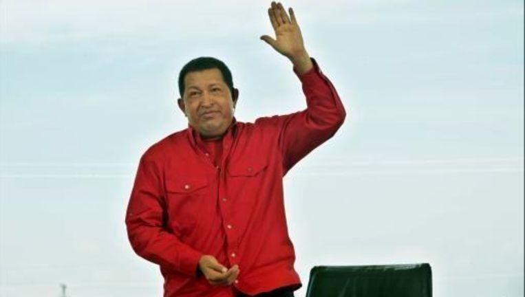 De Venezolaanse president Chávez kreeg de laatste tijd felle kritiek op zijn gedrag tegenover de pers. Beeld UNKNOWN