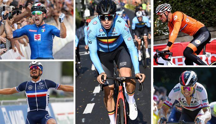 Colbrelli, Alaphilippe, van der Poel, Sagan... de nombreux adversaires pour Wout Van Aert entre Anvers et Louvain.