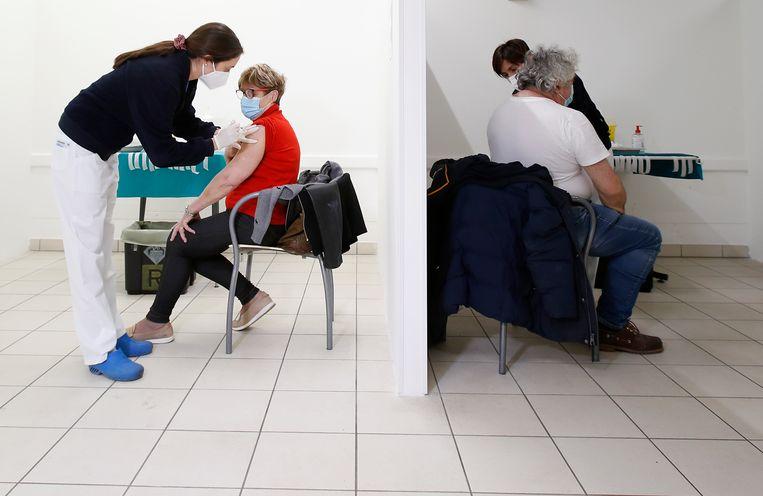 San Marino mikt erop om al zijn 33.800 inwoners voor het einde van mei gevaccineerd te hebben.  Beeld AP