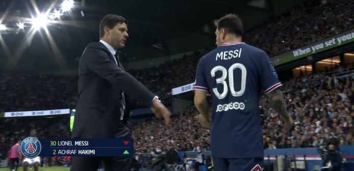 Lionel Messi n'a visiblement pas apprécié son remplacement.