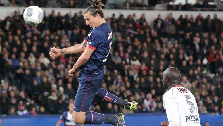 Derde goal van Zlatan Ibrahimovic Beeld ap