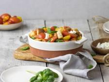 Wat Eten We Vandaag: Panzanella salade met zelfgemaakte vinaigrette