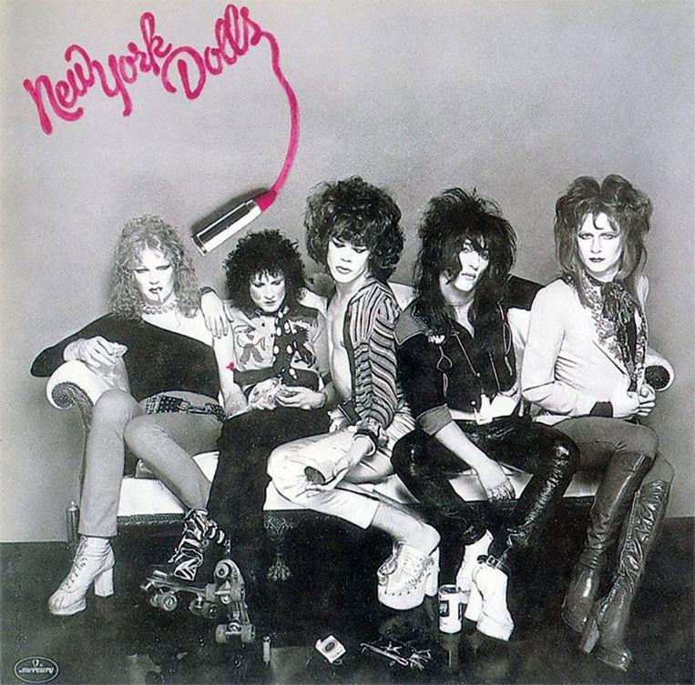 New York Dolls uit 1973. Beeld