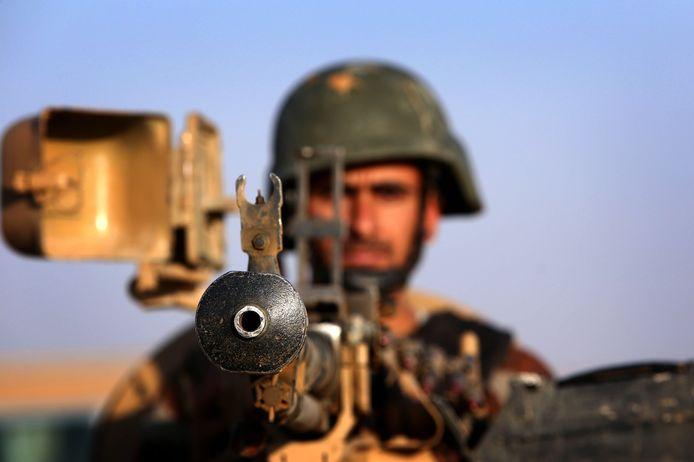 Koerdische militairen leveren strijd tegen IS in het Noorden van Irak.