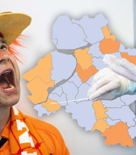 KAART | Coronacijfers opnieuw hoger in Oost-Nederland, twee regio's zelfs boven weekgemiddelde