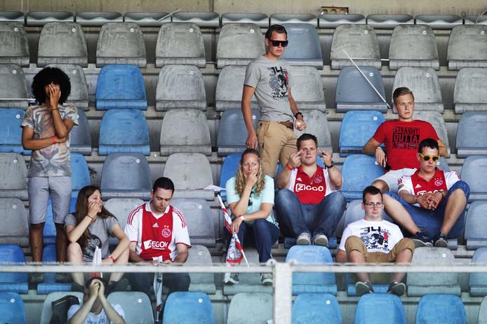 Het uitvak in 2016, toen Ajax door een 1-1 gelijkspel tegen De Graafschap geen kampioen werd.