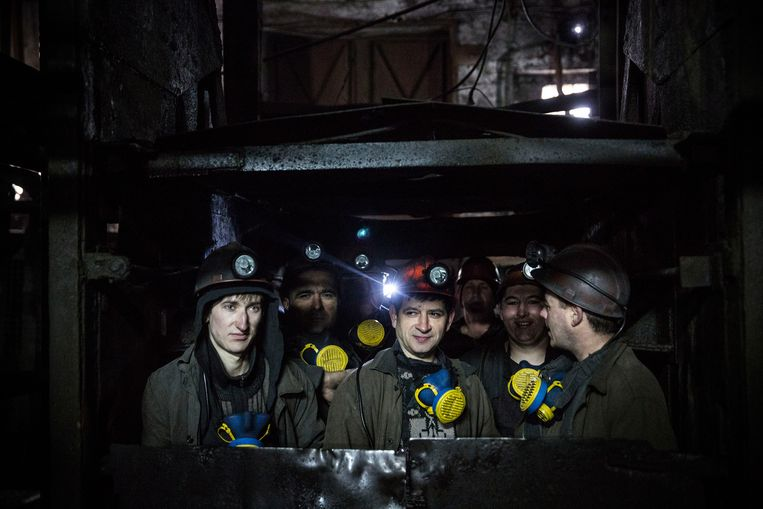 Oekraïense mijnwerkers Beeld Getty