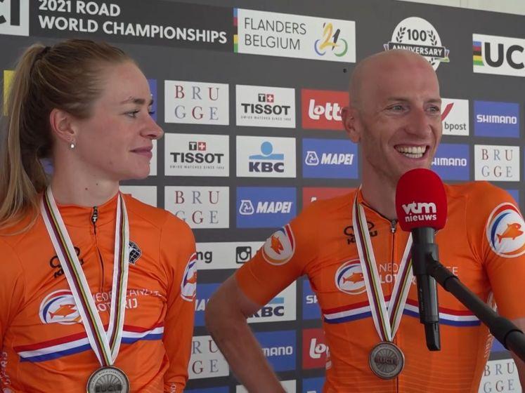Nederland grijpt net naast goud bij gemengde estafette