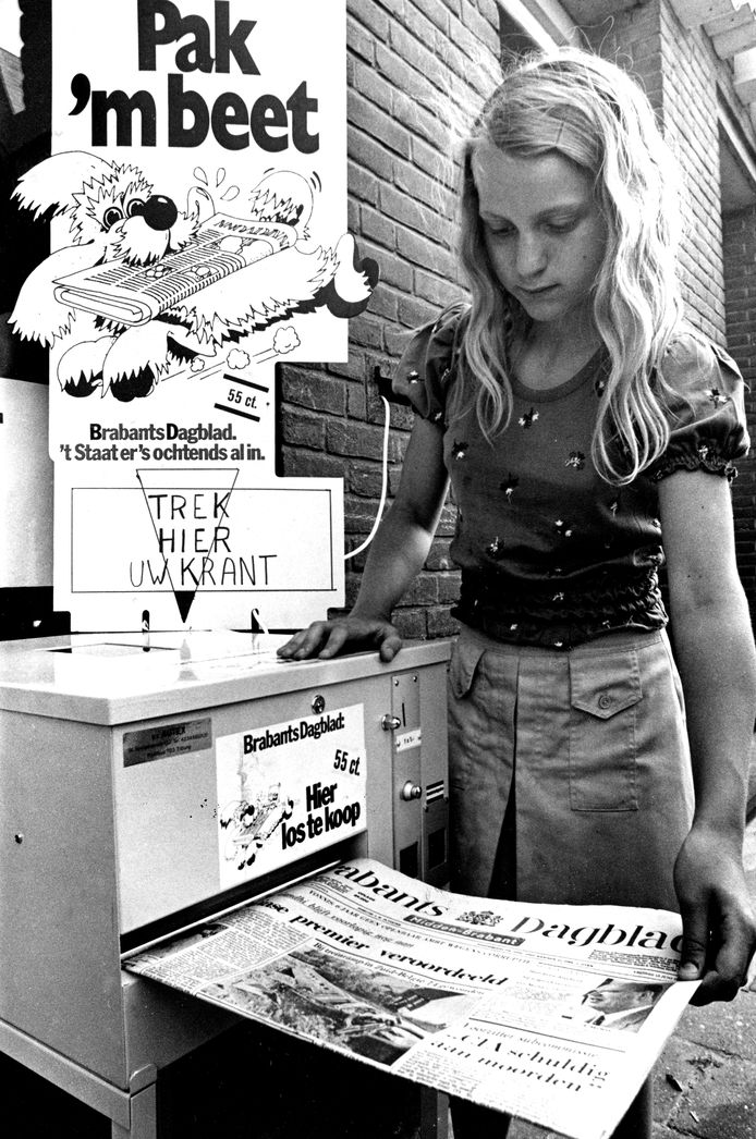 Brabants Dagblad-krantenautomaat in Boxtel
