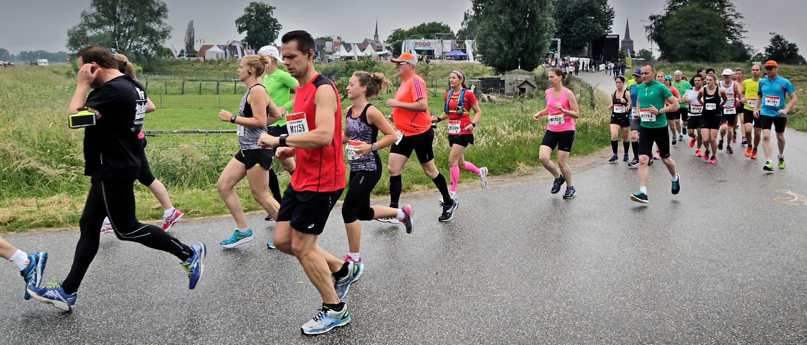 Deelnemers aan De Maasdijk in 2017.