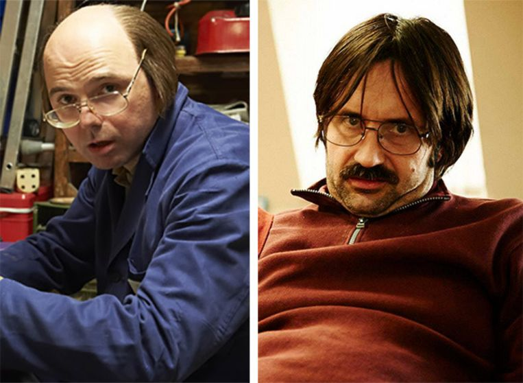 Karl Pilkington als 'Dougie' en Daave Earl als 'Kev' Beeld Netflix