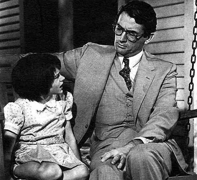 1962: Gregory Peck en Mary Badham in de verfilming van To Kill A Mockingbird Beeld anp