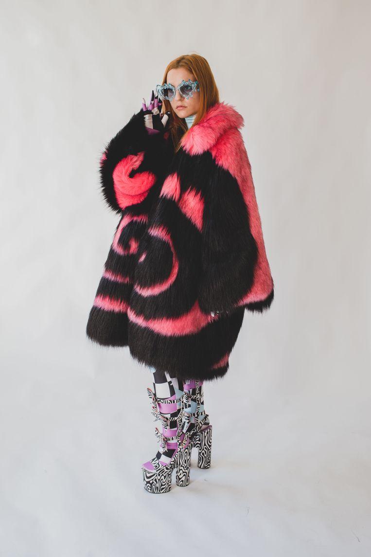 Lady Gaga droeg deze jas van Florentina Leitner. Beeld MARNIK A. BOEKAERTS