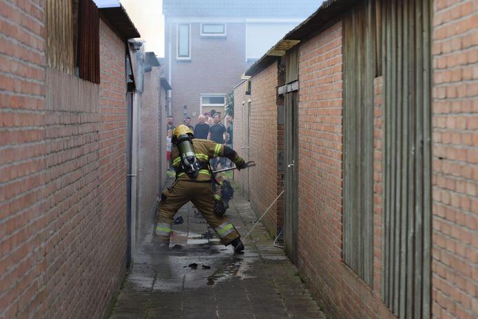 Brand aan de Europalaan in Boxtel.